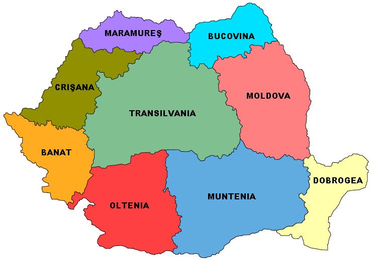 Regioni della Romania